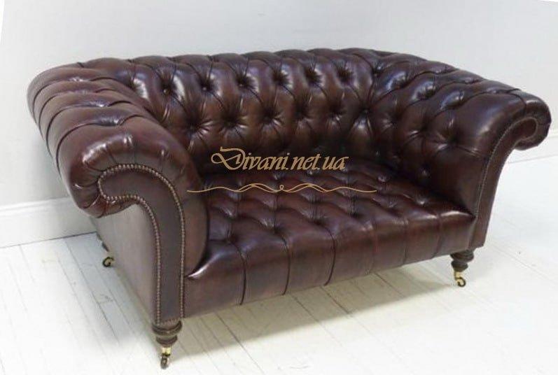 кожаный диван честер в стиле честер