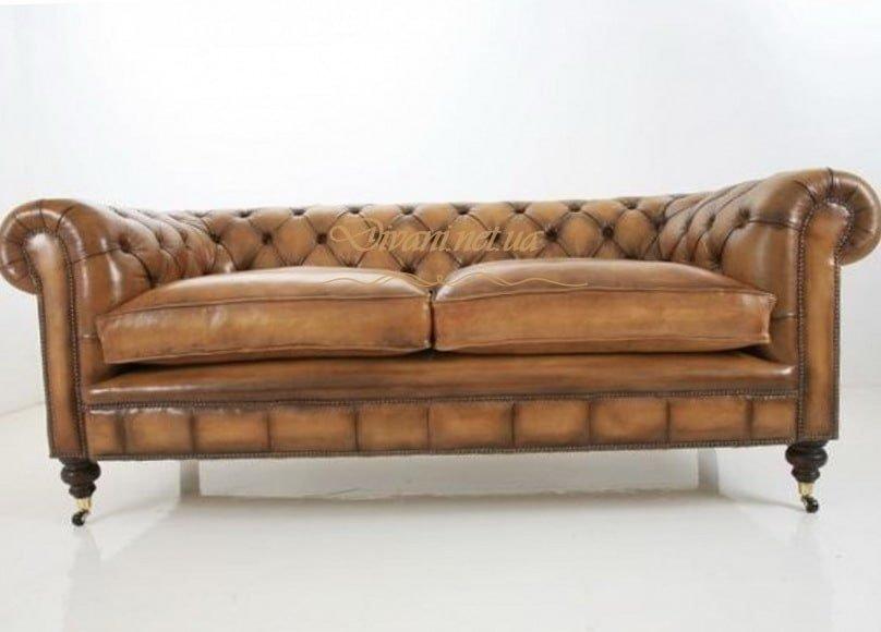 рыжий диван честер в стиле честер