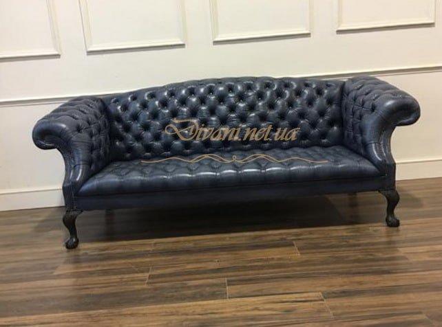 голубой дива диван честер