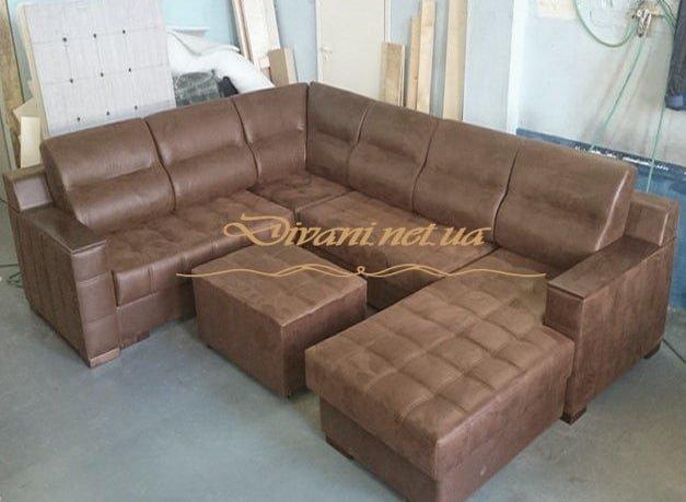 модульный п образынй диван в гостиную