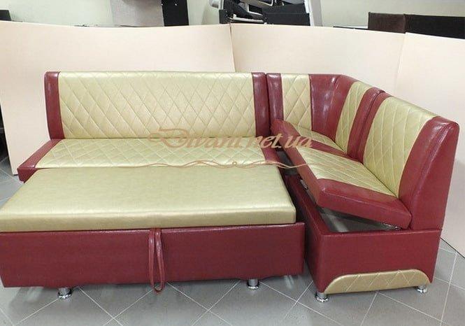 диван красный для кухни