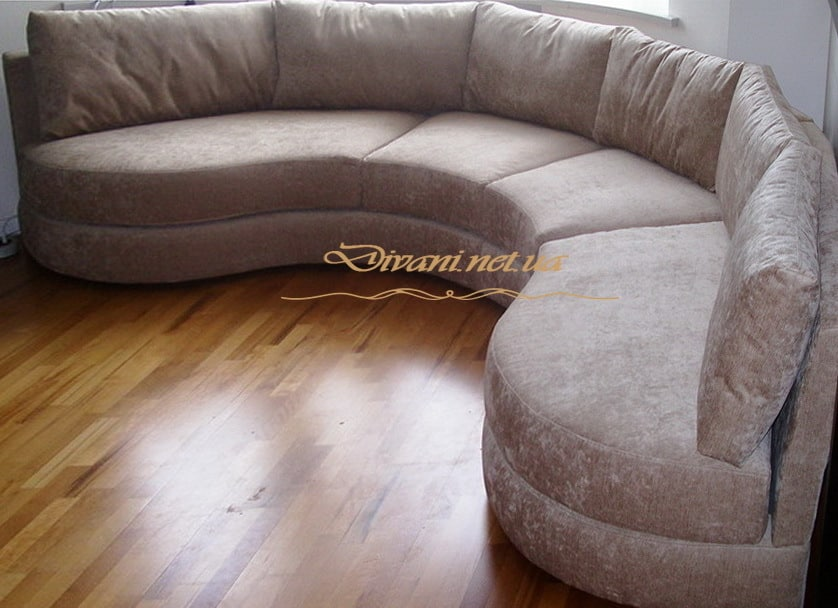 радиусный диван на кухню