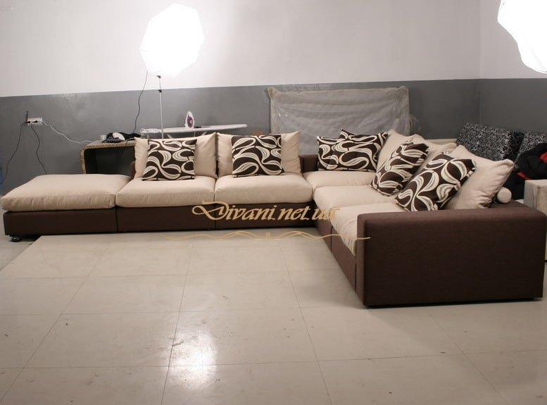 Угловой диван зеленый