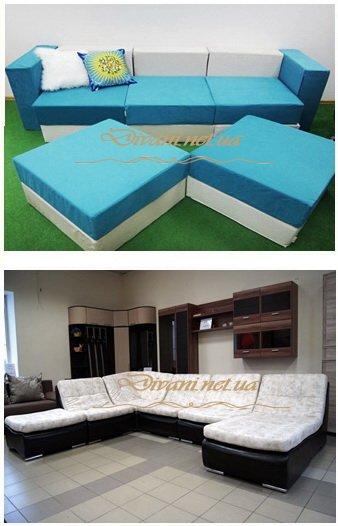 бескаркасная модульная мягкая мебель под заказ в Киеве