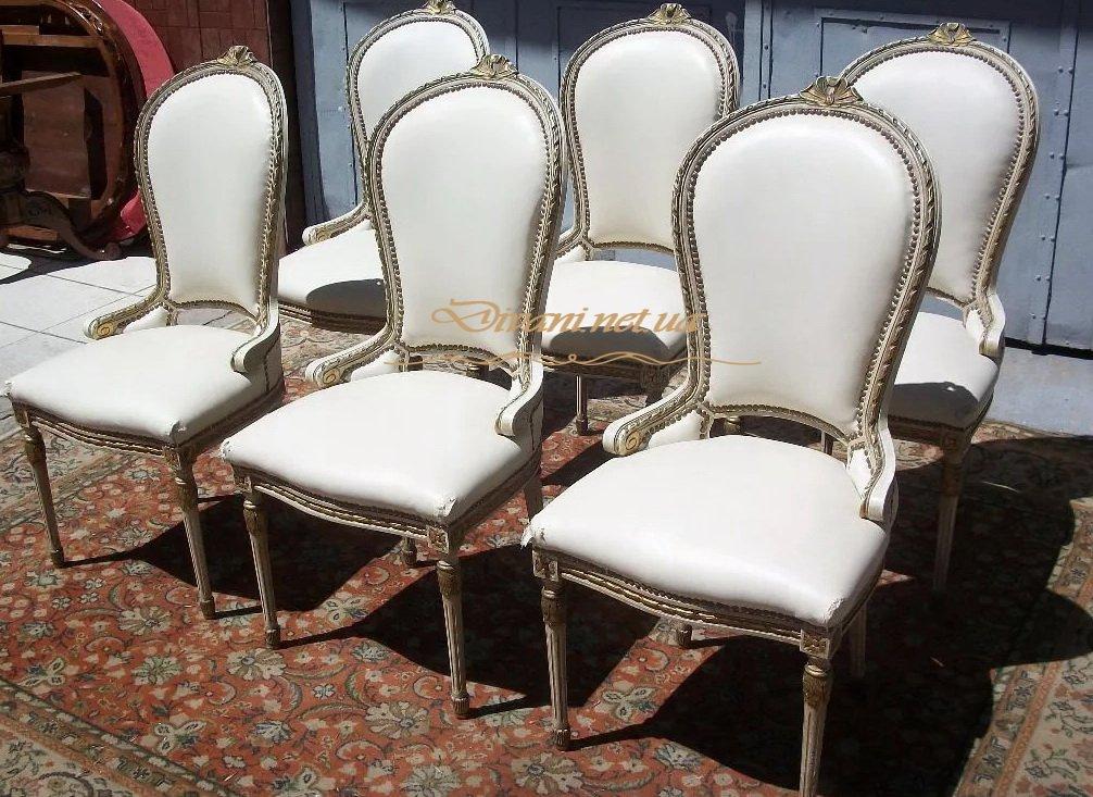 заказать белые эксклюзивные стулья