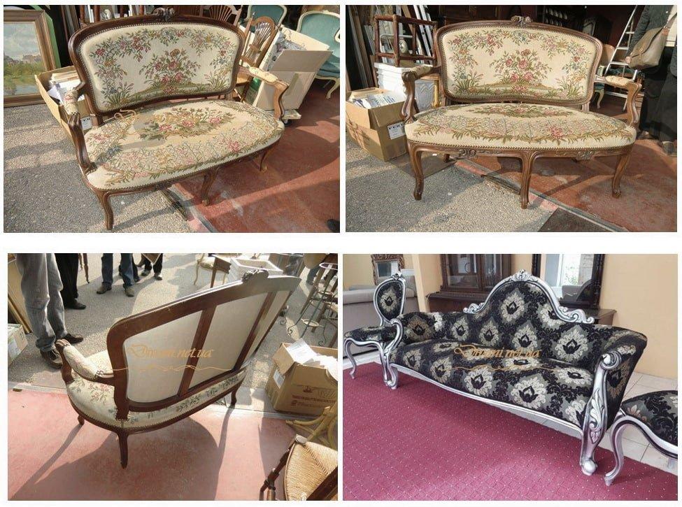 диван в стиле рококо на заказ
