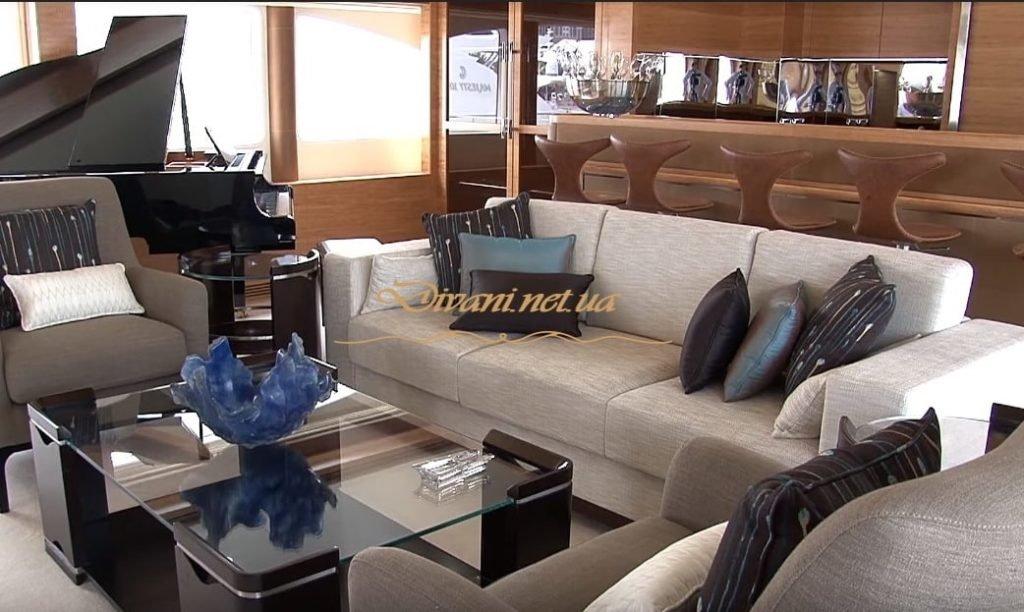 перетяжка мягкой мебели яхт