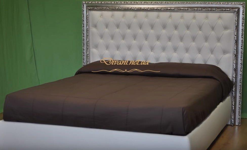 белое изголовье кровати на заказ