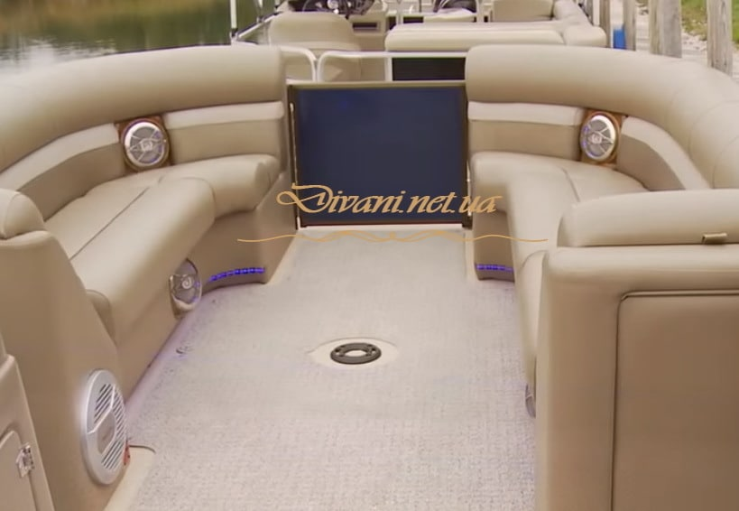 пошив дивана для катера на заказ