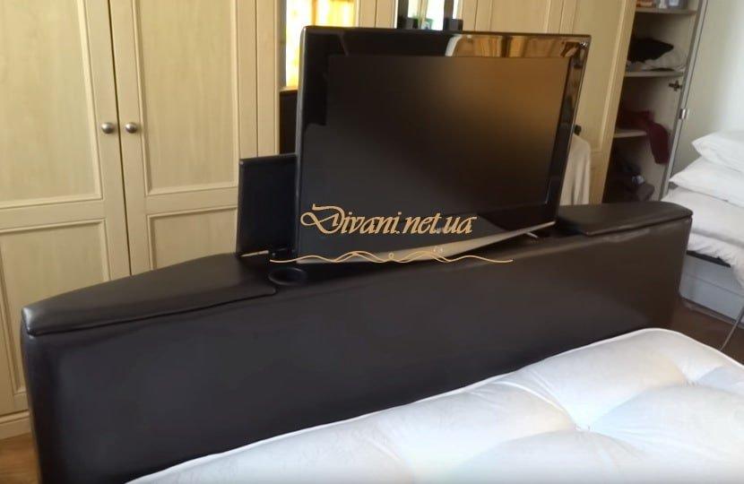 изголовье с выдвижным телевизором Киев на заказ