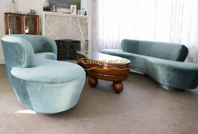 диван на заказ голубой Печерск