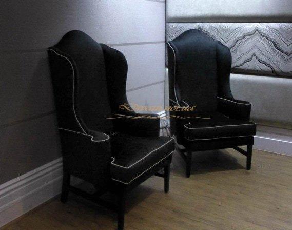 Черные кресла в стиле котики под заказ Выжгород