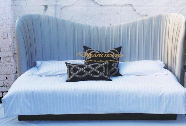 большая белая мягкая кровать под заказ Выжгород