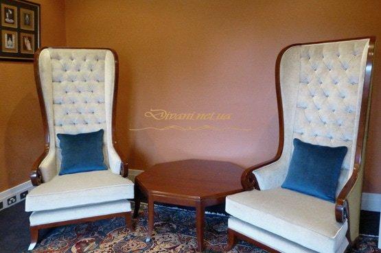 Белые Кресла с высокой спинкой Честер на заказ Выжгород