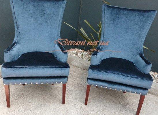 эксклюзивные два синих кресла