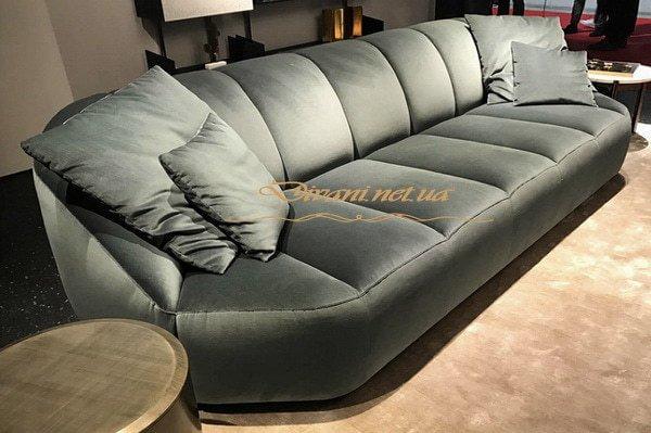 авторский зеленый диван прямой под заказ Правый берег