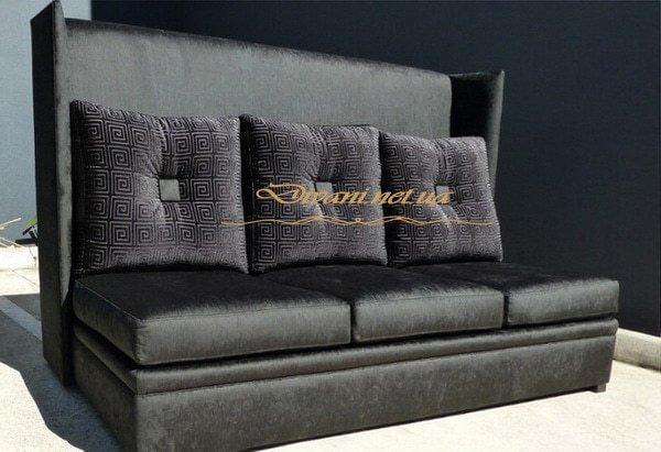 прямой диван с высокой спинкой под заказ