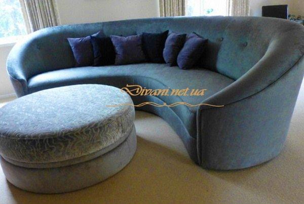 Радиусный диван под заказ Святошинский район