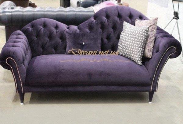 сиреневый прямой диван