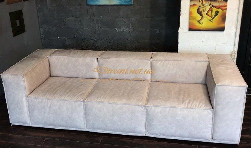 прямой белый модульный диван на заказ