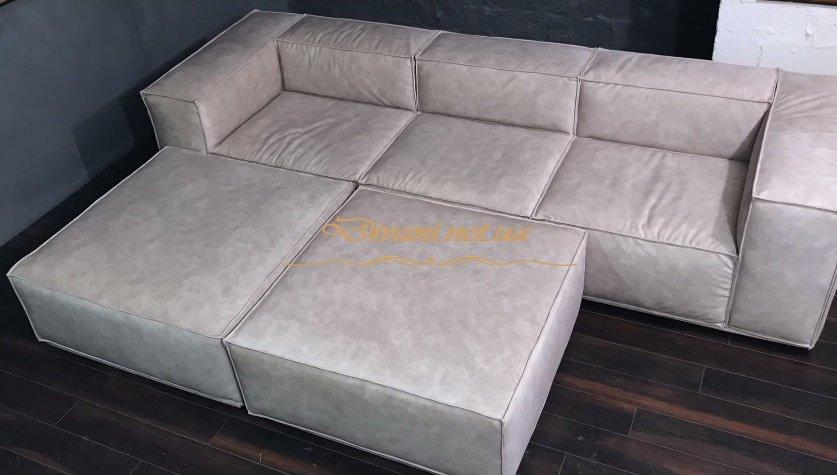модульная мягкая мебель с пуфом на заказ