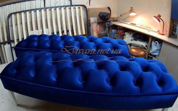 голубая мягкая мебель Видневое
