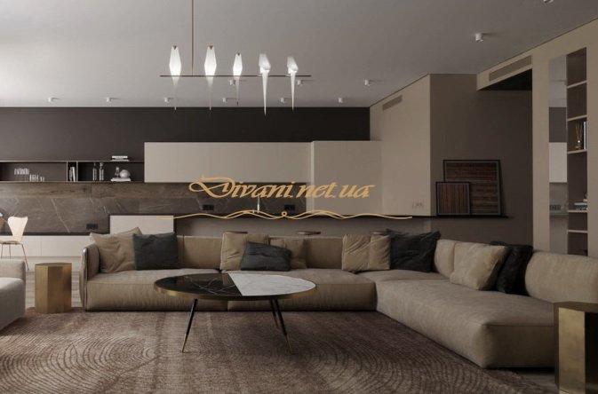 большой диван угловой в гостиную