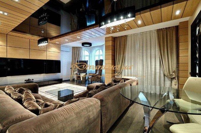 шикарный п образный диван в элитную квартиру