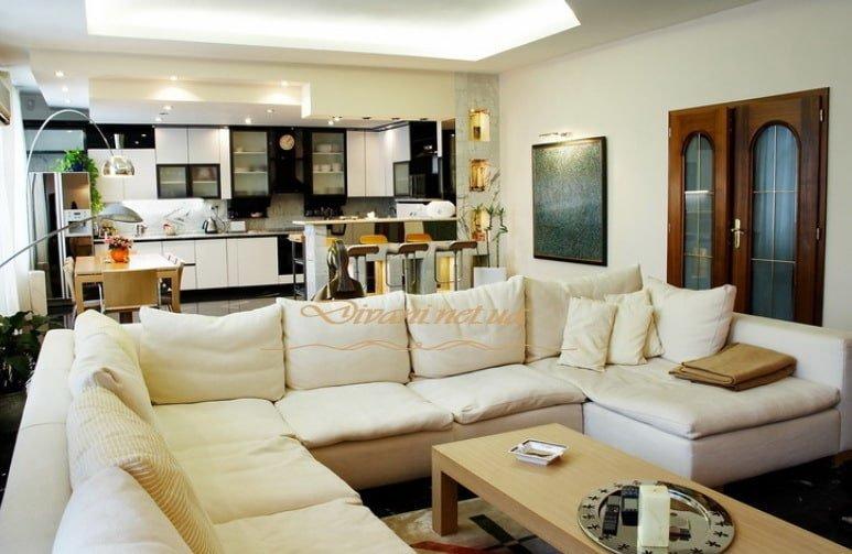 дизайн п образного дивана