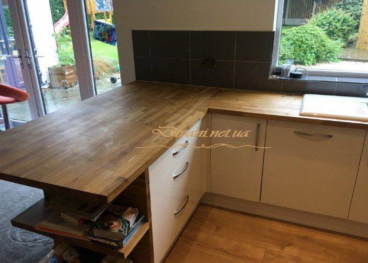 кухня из массива дерева на заказ под заказ