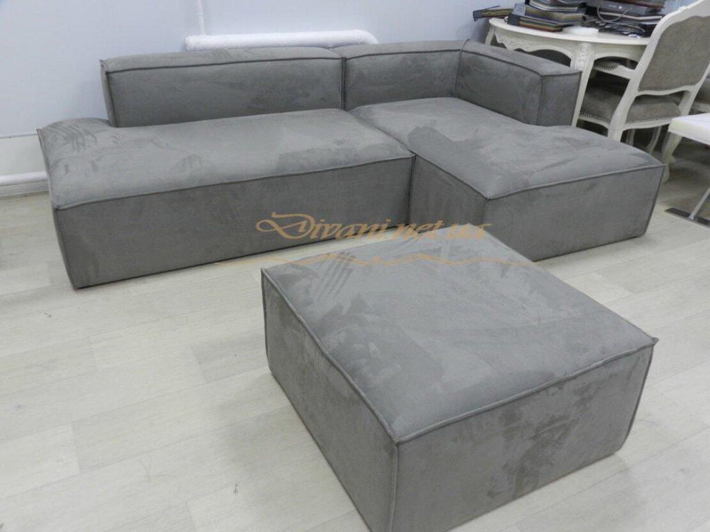 модульынй серый диван лофт