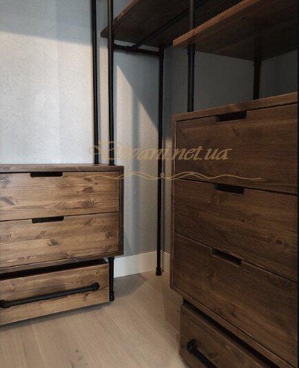 мебель для гардеробной в стиле лофт