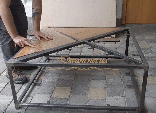 Квадраный стол LOFT под заказ
