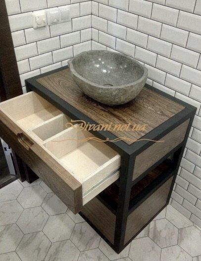 Мебель в стиле лофт на заказ для ванной