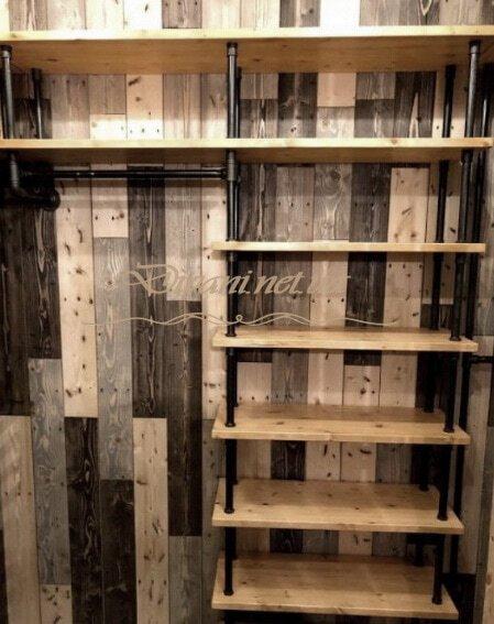 гардероб из массива loft