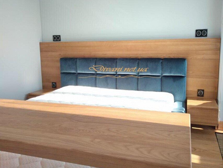 кровать из дсп с мягким изголовьем на заказ