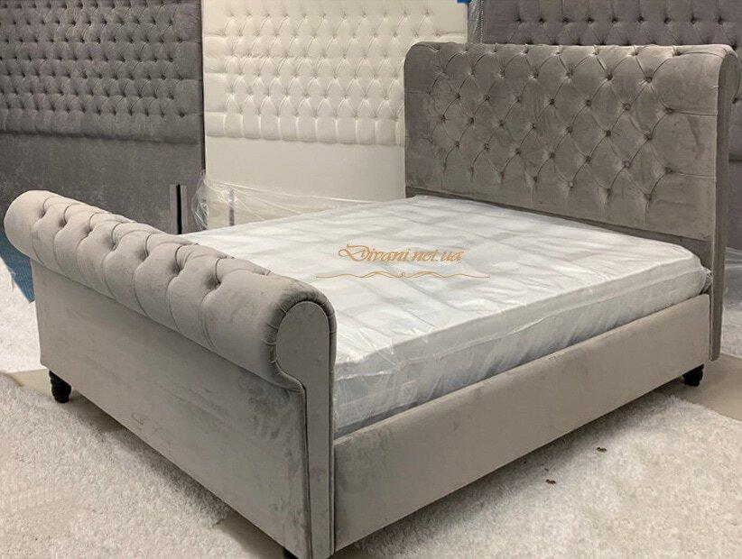 кровать двуспальная бежевая на заказ