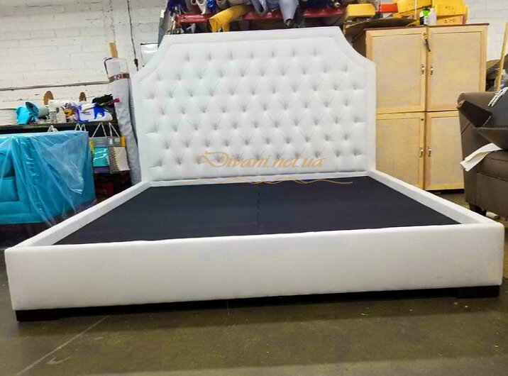 белая двойная кровать под заказ