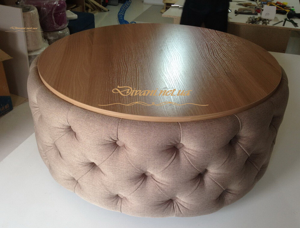 пуфик стол