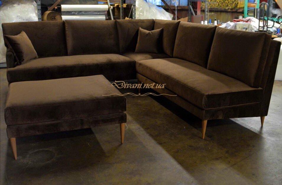 Заказать элитный диван уговой  в скандинавском стиле