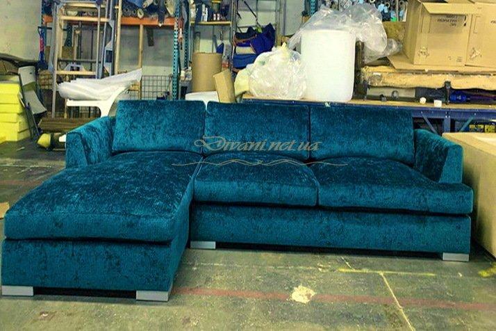 зеленый диван угловой