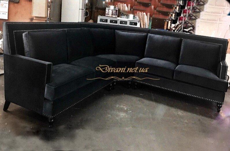 диван угловой черный на заказ