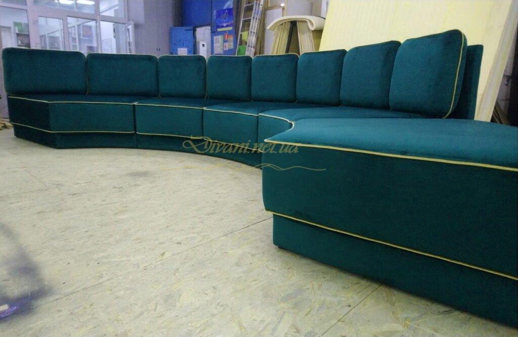 бирюзовый угловой диван на заказ