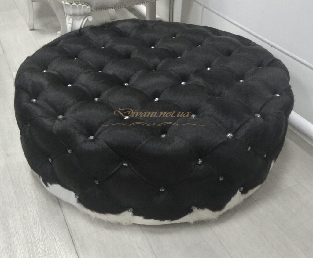 Черный круглый пуф под заказ