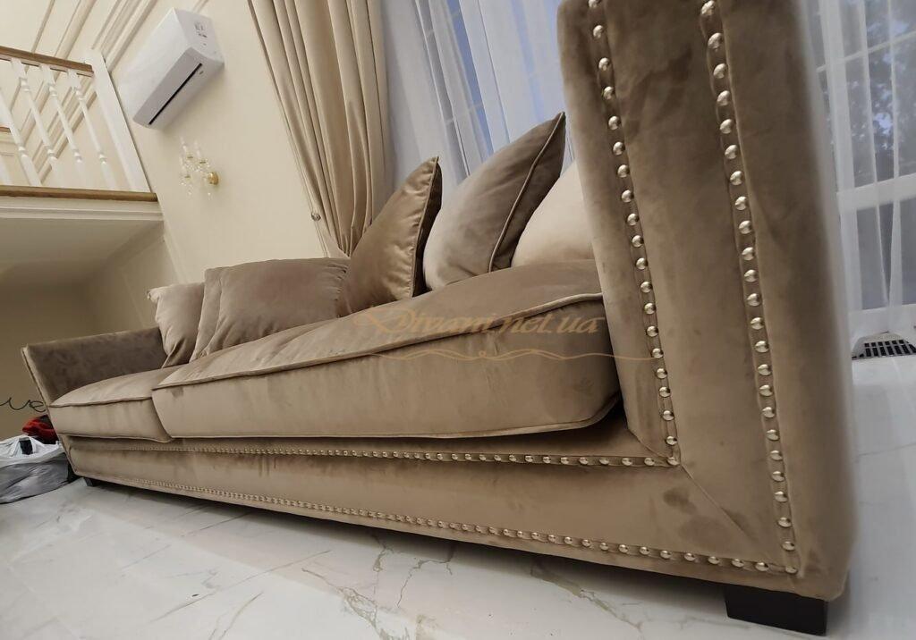 диван честер угловой с гвоздиками