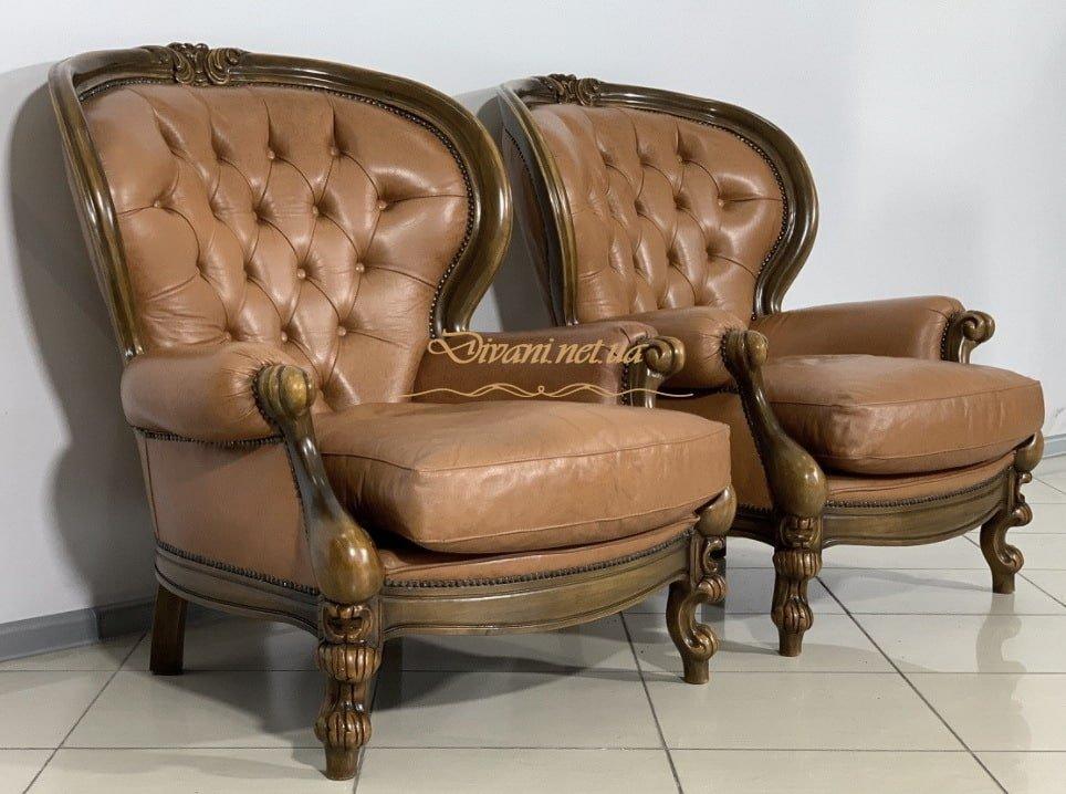 классические кожанные кресла