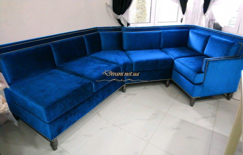 синий диван угловой модульный